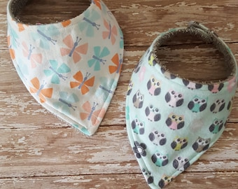 Bandana Drool Bibs set of 2