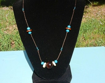 Wood and Glass Beads