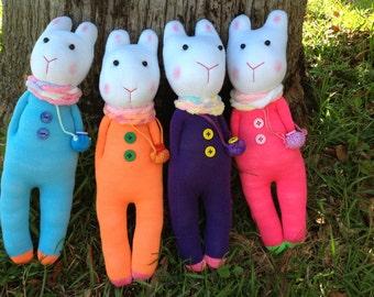 Bunny sock doll ( not a set), sock doll,