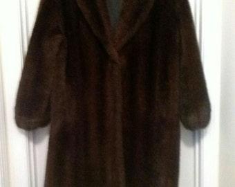 MONTEREY Faux Mink Coat 14-16 WOMEN- XL