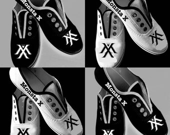 Monsta X Kpop *hand painted* shoes