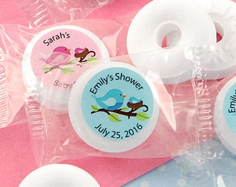 Baby Shower Favor Mints, Personalized Baby Life Savers Mint Favors, Baby Shower Favors, Baby Mints, Personalized Mints - Set of 100
