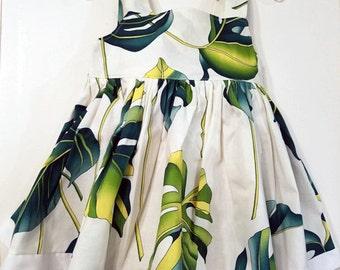 Toddler 's Tropical Leaf Print Dress