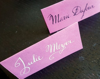 Mark square calligraphy classic - Classic Escort Card Lettering