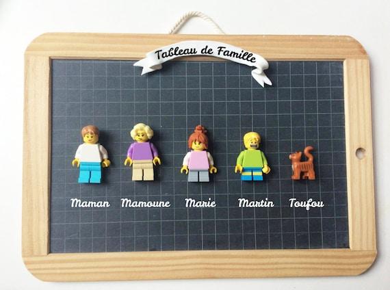 items similar to lego family portrait custom family gift idea photo frame hand made
