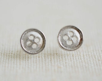 925 Sterling silver matte Stud Earring with silver post backs