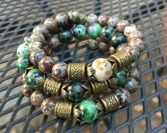 Semi-Precious Gemstone wrap bracelet