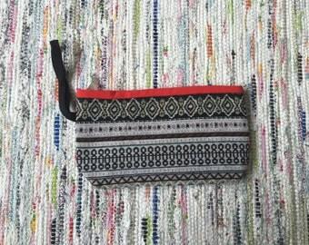 Ethnic wristlet clutch/purse