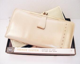 Rolfs French Clutch Genuine Cowhide Leather