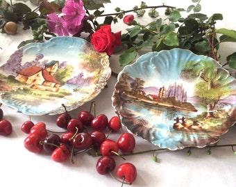 Two Art-Nouveau plates. Fine Limoges china. France 1900. Art and collectibles. collectibles.