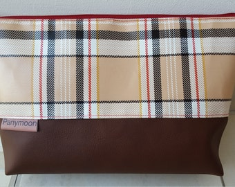 Bag PANYMOON - tartan plaid - lined - 30 x 20 x 8 cm