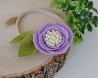 SALE Lilac felt flower headband