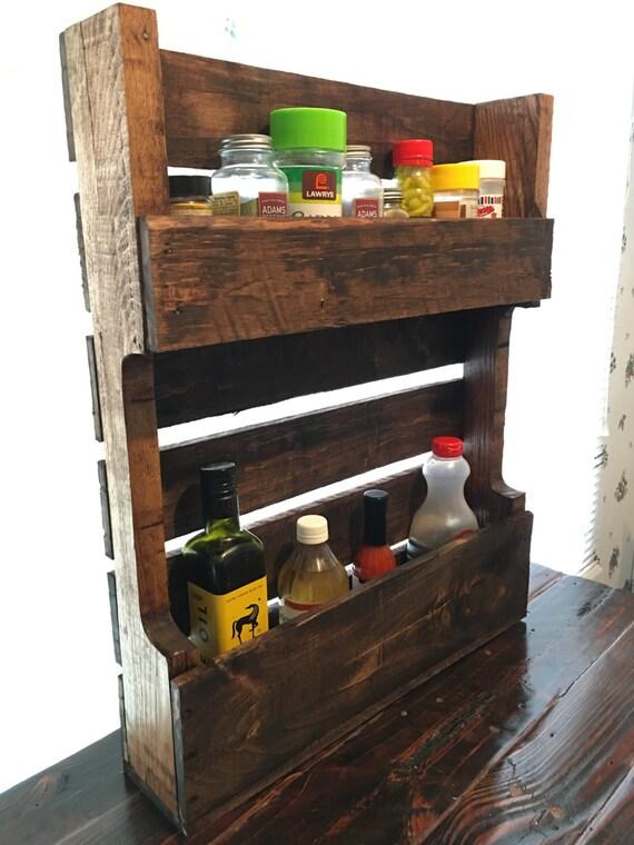 Reclaimed pallet wood spice rack