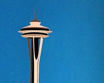 Seattle Space Needle screenprint