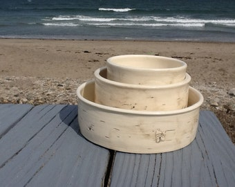 Birch bowls - set of 3