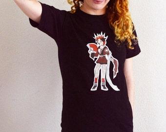 Alternative Asian girl t-shirt, emo, gothic, fanatsy, punk