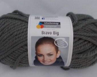 Grey yarn, super chunky, knitting yarn, crochet yarn, Schachenmayr Bravo Big Color, super bulky yarn, cheap yarn, yarn lot, roving yarn