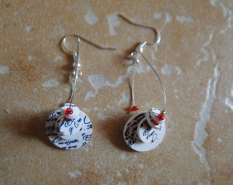 pretty round earrings plastic crazy