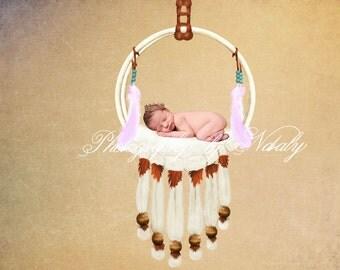 Newborn digital backdrop | Baby cream props | background photo props