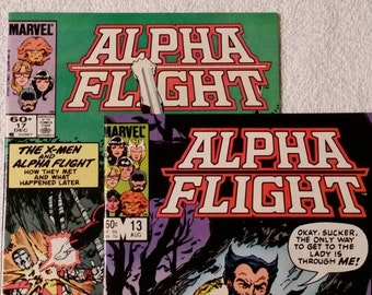 Alpha Flight #13 and #17, featuring Wolverine and X-Men (1984)