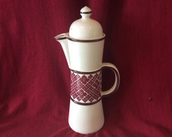 "Carlton Ware Coffee Pot 13.5"" tall"