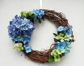 Spring Summer Hydrangea Wreath