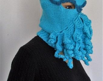 Cthulu knitted mask