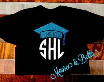 Graduation monogrammed shirt