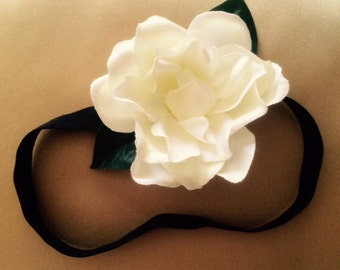 Gardenia flower stretch headband