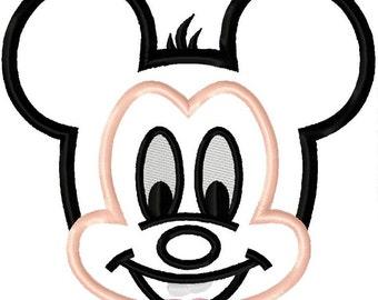 Mr Mouse Head 4 Applique Machine Embroidery Applique Design 4x4 5x7 INSTANT DOWNLOAD