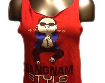 Gangnam Style Diamond-Back Cut T-Shirt (Size Small)