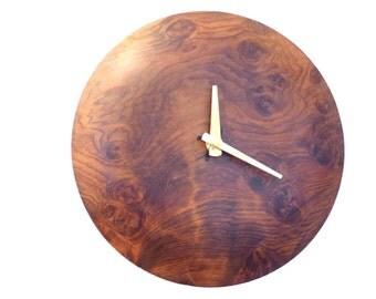 Wall Clock Redwood Burl