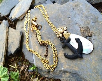Hold Fast; Anchor Necklace