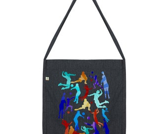 Rainbow Volleyball Silhouette Tote Bag