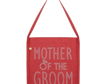 Mother Of The Groom Rhinestone Tote Bag