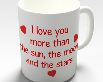 I Love You More Than Romantic Valentines Ceramic Novelty Gift Mug