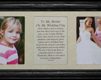 7x15 To My MOTHER On My WEDDING DAY Poetry & Photo Frame ~ Wedding/Christmas or Mother's Day Gift for the Mother of the Bride ~