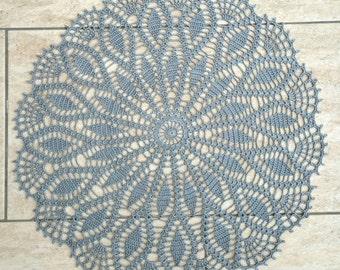 Crocheted doily - grey