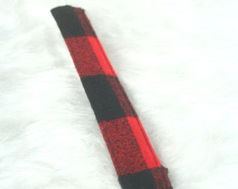 Buffalo Plaid Pacifier Clip | Pacifier Clip | Pacifier Strap | Ready To Ship | Hipster Flannel | Binky Clip | Binky Strap | Baby Gift