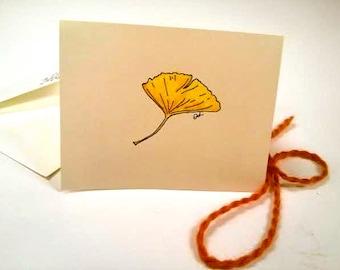 Gingko Leaf Card