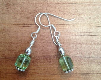 Swarovski Crystal, Bali, Sterling Silver Earrings, Handmade