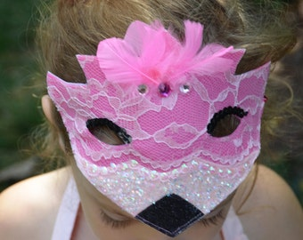 Flamingo mask / Flamingo costume