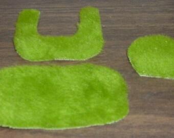 Miniature BATHROOM RUG SET Green (3 Piece)(Dollhouse Dressups)