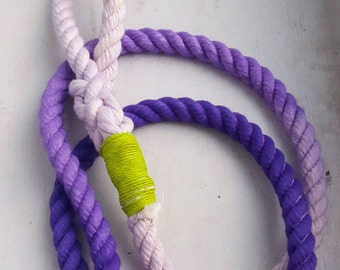 Dog leash, Lavender Lush, hand dyed