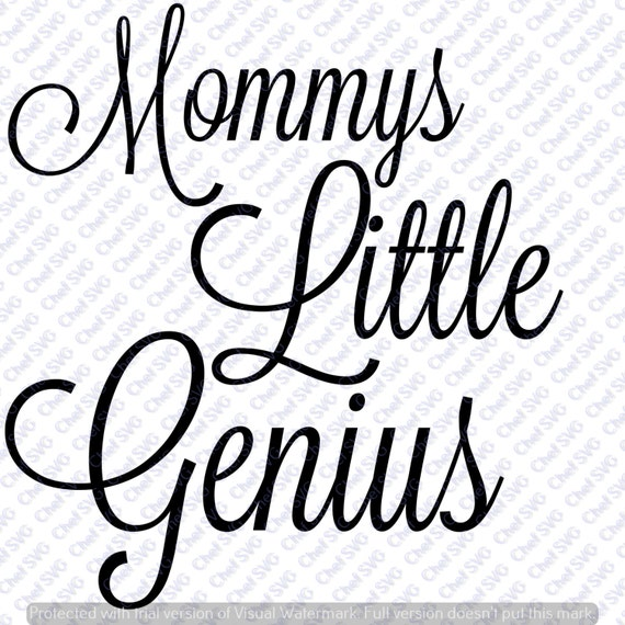 mommies little genius svg quote  quote overlay  svg  vinyl