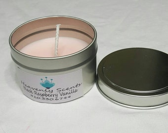 Black Raspberry Vanilla Soy Candle 6 oz