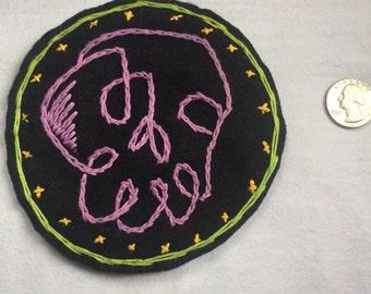 Purple Skull Patch