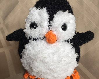 Soft and Fluffy Crochet Amigurumi Pengiun