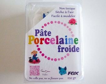 1 Block of 250 grams Fox Brand White Cold Porcelain Clay