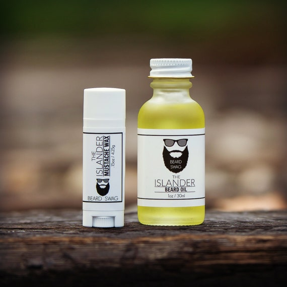 The Islander Beard Oil And Mustache Wax Combo By Beard Swag